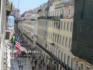 Baixa apartment photo - View from the app. Rua Augusta and the Tejo river