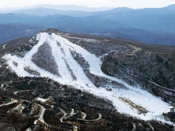 Aerial View of Ski Beech