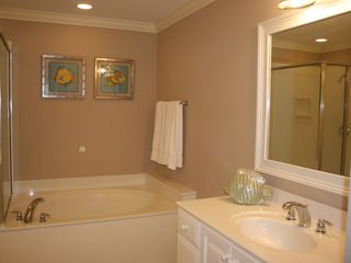 Tybee Island condo photo - Master jacuzzi tub
