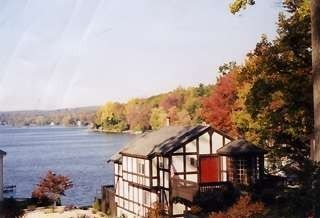 Highland Lake chalet rental - beautiful fall foliage all around you