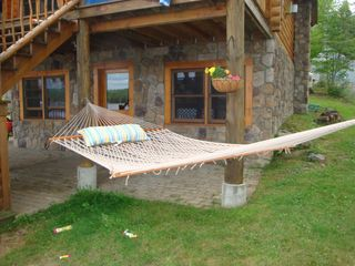Lunenburg cabin photo - Lazy days in the hammock.