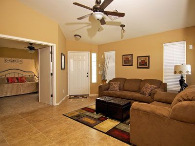 Ceiling Fans in the Living Room & every Bedroom keep the home comfortable
