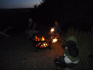 Oak Harbor house photo - Enjoy the private firepit, firewood provided: Sunset to S'Mores.