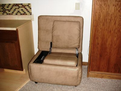 Leather Ottoman Converts to Gaming Chair, Great for Playing XBox or Watching TV