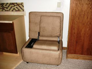 Brian Head condo photo - Leather Ottoman Converts to Gaming Chair, Great for Playing XBox or Watching TV