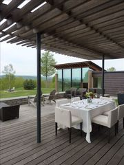 West Windsor house photo - Summer dining alfresco
