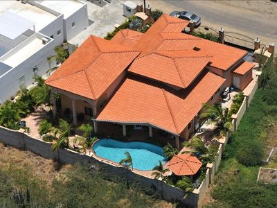 Aerial view of Villa Safir