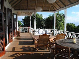 Gingerland villa photo - The Veranda with Sea Views