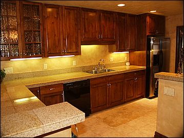 Remodeled Kitchen Granite Countertops