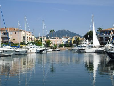 view of marina in Port Cogolin