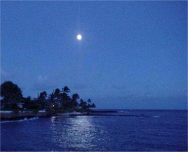 watch the moon rise over paradise. . .