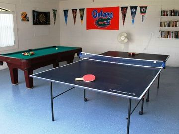 Games Room with Pool Table, Table Tennis and Darts Board