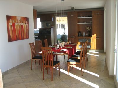 Riva del Garda villa rental - Dining Room for Entertaining with Views of Lake!