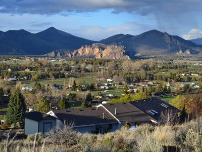 Overlooking Smith Rock and the countryside of rural Terrebonne