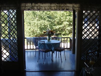 front porch from dining room