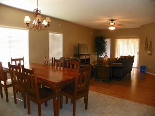 "San Tan Valley house photo - View of dining room and family room with 40"" HD TV"