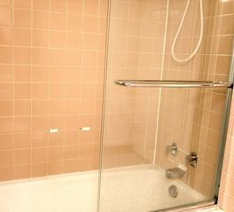 Dupont Circle studio photo - Shower and tub