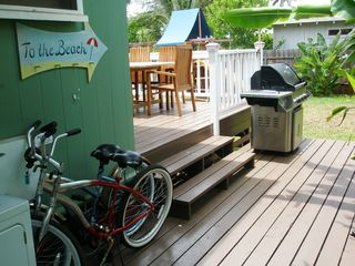 Sunset Beach house photo - Two beach cruisers for you and a BBQ for a fun & relaxing afternoon