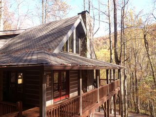Hot Springs cabin photo - Wraparound covered porch completely surrounds the cabin.