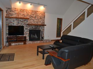 Lake Wallenpaupack property rental photo - Real wood burning fireplace