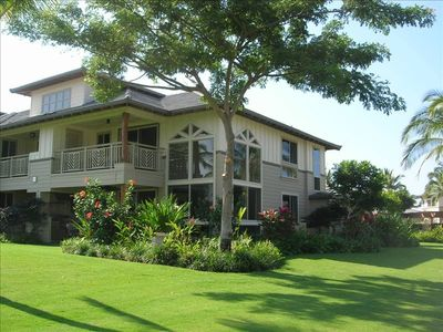 Hawaianna plantation style architecture with windows galore and expansive views