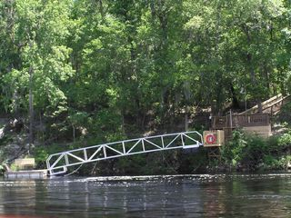 Suwannee River house photo - Floating Dock as seen from across the river