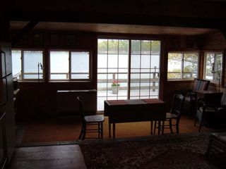 Brunswick cottage photo - Living room to large deck