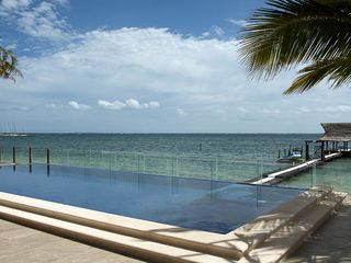 Cancun house photo - .Ocean view from the pool