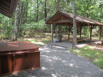 Relax in the hot tub or picnic in the pavilion. Great for families or couples.