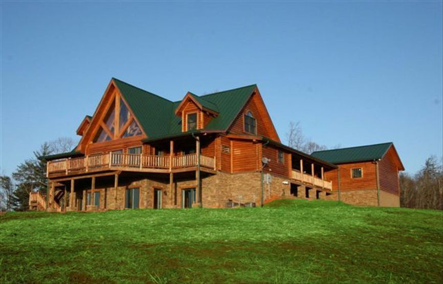 Luxury cabin with breathtaking mountain views vrbo for Dahlonega ga cabins for rent