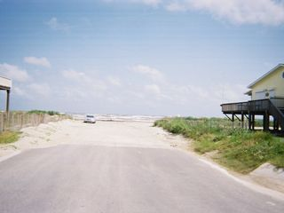 Galveston house photo - This road leads you to the water!