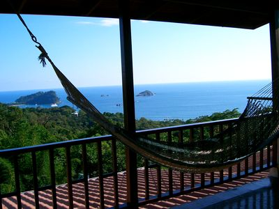 Front porch hammock, overlooking the ocean & the Manuel Antonio National Park
