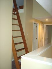 North Conway townhome photo - Ships ladder to the loft bedroom