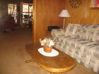Idyllwild cabin photo - Looking from the den into the livingroom and dining area