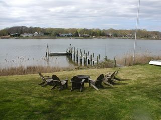 Southold house photo - Waterfront seating with firepit