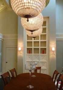 Dining area and feature by designer