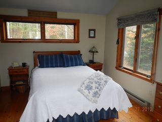 Kennebunkport house photo - Master bedroom with cathedral ceilings