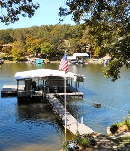Laurie house rental - The dock and swim platform