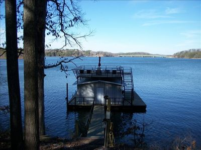 Large party dock with georgeous open water views, swimming and relaxing