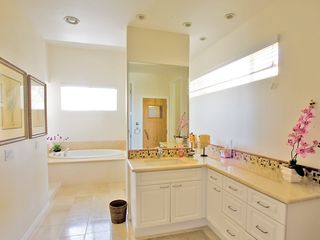 Master Bathroom dual sinks, Jetted tub, Sauna and Private Shower - Carlsbad house vacation rental photo