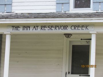 The Inn at Reservoir Creek with its front porch where you can relax after dinner