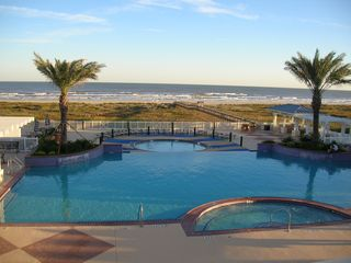 Galveston condo photo - Walk to Beach Club pool and hot tub overlooking gulf