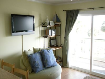 Flat Screen TV with DVD player and additional seating