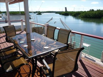 View across deck looking down toward harbor. See Fish-Cleaning Station