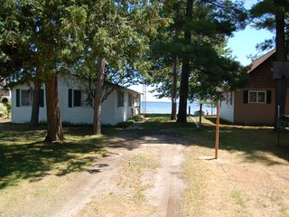 Black Lake house photo - Drive and rear view of cottage