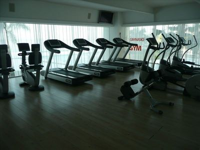 Gym with equipment for cardio work-out