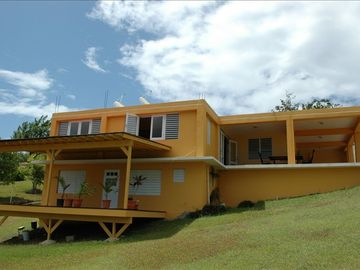 Vieques Island house rental - Casa Alyssa exterior (before landscaping)