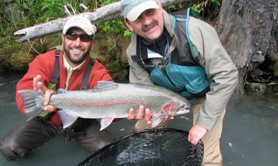 Guided World Class Rainbow Trout fishing nearby on the Kenai River.
