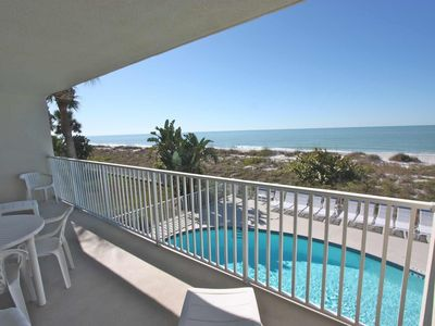 View of the gulf from balcony off living Room