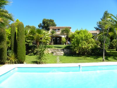 Beautiful villa with pool in stunning secluded gardens, on private domain